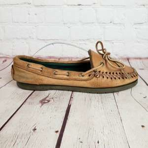 VTG LL Bean Moccasins Leather Loafers